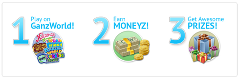 Play, Earn, Win. GanzWorld Rewards.