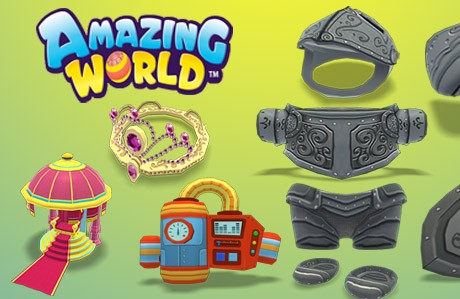 New Amazing World Items on GanzWorld Rewards!