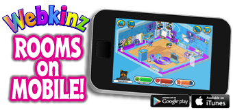 Rooms Now Available on Webkinz Mobile!